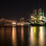 Mississippi River at night