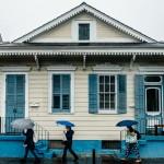 The little blue house